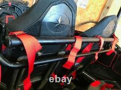 Black 4 or 6 Point Front Seat Belt Harness Upper Bar Fits 14-21 Polaris RZR 4 XP