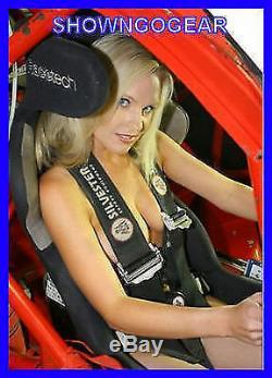 Black Camlock Cam Lock 5 Point Racing Harness Seat Belt Sfi Cams Drag Burnout