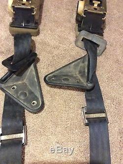 Black Rear 3 point Harness Seat Belt Set 1982-1992 3rd Gen Camaro Firebird