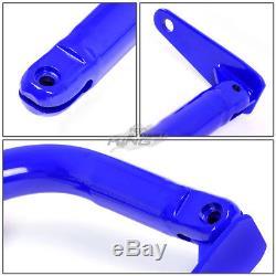 Blue 49 Adjustable MILD Steel Safety Seat Belt Harness Bar With Support Rods