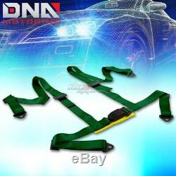 Blue 49stainless Steel Chassis Harness Rod+green 4-pt Strap Buckle Seat Belt