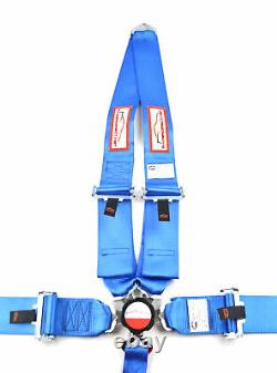 Blue Safety Harness Sfi 16.1 Racing 5 Point V Mount 3 Cam Lock Seat Belt