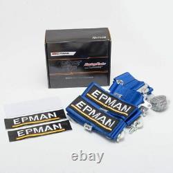 Blue Universal 4-Point 3 Nylon Strap Harness Safety Camlock Racing Seat Belt