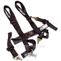 Buddy Club Racing Spec 2 4 Point Seatbelt Seat Belt Harness Black Genuine JDM