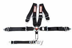 Cam Lock Racing Harness Seat Belt 3 Sfi 16.1 Universal 5 Point Black