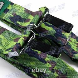 Camouflage 4 Point Snap-On 3 With Camlock Racing Seat Belt Harness Universal x1