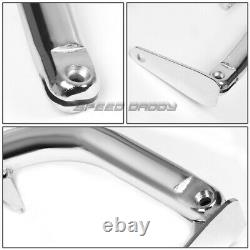 Chrome 49stainless Steel Chassis Harness Bar+red 4-pt Strap Buckle Seat Belt