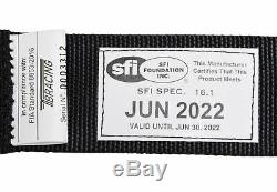 Conquer SFI 16.1/FIA Rated 6 Point Racing Safety Harness Cam Lock Seat Belt
