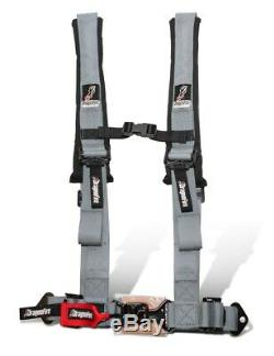 Dragonfire Racing UTV SXS Seat Belt 2 Style 4 Point Harnesses Grey (Pair)