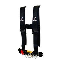 Dragonfire Seat Belt Harness 4 Point 2 H-Style Youth Black Yamaha CanAm Polaris