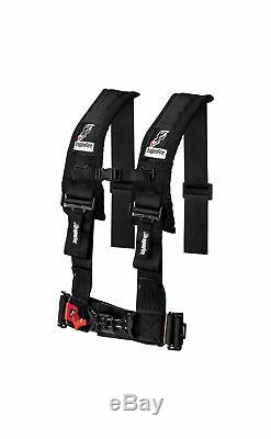 Dragonfire Seat Belt Harness 4 Point 3 Padded Black Pair Yamaha Can Am Polaris