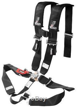 Dragonfire Seat Belt Harness 5 Point 3 Padded Black Yamaha Can Am Polaris