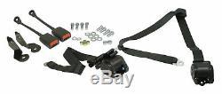 EMPI 3851 3 Point Retractable Seat Belt/Harness Black X2 VW BUG & GHIA 1968-79