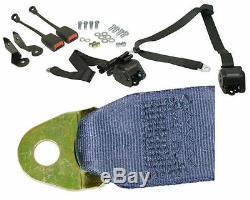 EMPI BUG 1968-79, 3- Point Retractable Seat Belt/Harness, BLUE, PR. 18-1031