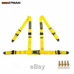 Epman Universal 4 Point Buckle Racing Seat Belt Harness 2 8 Colors For Choosen