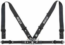 FIA SPARCO seat belts 04716M1 lightweight 4-point harness BLACK 8854 STOCK 2021