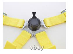 FK harness 4 point universal seat belt yellow track rally race bucket safety