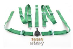 FK harness 5 point universal seat belt green track rally race bucket safety