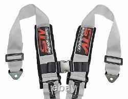 GRAY 4 point Racing Harness Seat Belts Razor RZR UTV Buggy Off-Road