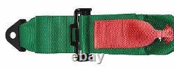 GREEN 4 point Racing Harness Seat Belts Razor RZR UTV Buggy Off-Road