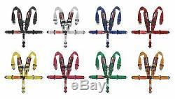 GREEN Custom 5 Point Shoulder Harness Racing Seat Belts SFI 1 Set