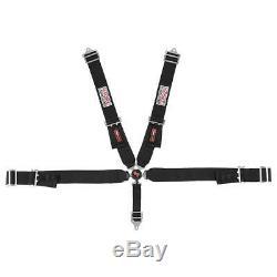G-Force Cam-Lock 5 Point Harness Black Pro Series Racing Seat Belts 7100BK SFI