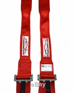 Hans Safety Harness Cam Lock Racing Sfi 16.1 5 Point Seat Belt Red