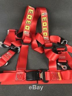 Momo Corse Seat Belt 4 Points Harness Red