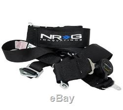 NRG 5 Point Racing Seatbelt / Harness Cam Lock SFI Approved Black