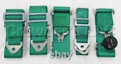 NRG 6 Pt 3inch Seat Belt Harness / Cam Lock- Green