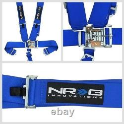 NRG SBH-5PCBL 5-Point Latch Link Blue SFI Approved 16.1 Racing Seat Belt Harness