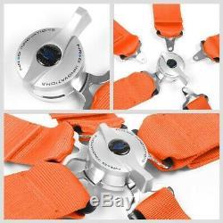 NRG SBH-R6PCOR 5-Point Cam Lock Orange SFI 16.1 Racing Seat Belt Harness