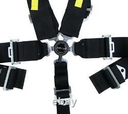 NRG SFI 16.1 5PT 3 Seat Belt Harness / Cam Lock Black