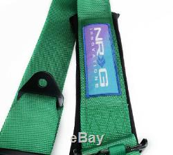 NRG SFI Approved 16.1 Seat Belt Harness 5 Point Cam Lock Green SBH-B6PCGN