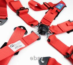 NRG SFI Approved Seat Belt Harness 5 Point Cam Lock Silver SBH-B6PCRD