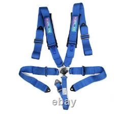 NRG SFI Certified 5 Point 3 Seat Belt Racing Harness with Cam Lock Buckle Blue