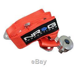 NRG Seat Belt Harness 5 Point Cam Lock Red SBH-R6PCRD