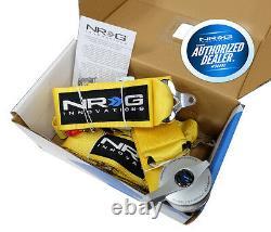 NRG Seat Belt Harness 5 Point Cam Lock Yellow SBH-R6PCYL
