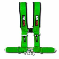 New 50 Caliber Racing 3 4 Point Safety Harness Seat Belt Adjustable Green