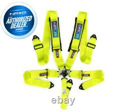 New Nrg 5 Point Sfi Approved Cam Lock Seat Belt Harness In Neon Green Sbh-b6pcng