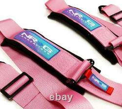 New Nrg 5 Point Sfi Approved Cam Lock Seat Belt Harness In Pink Sbh-b6pcpk