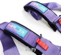 New Nrg 5 Point Sfi Approved Cam Lock Seat Belt Harness In Purple Sbh-b6pcpp
