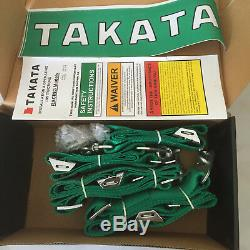 New Universal Green 4 Point Camlock Quick Release Racing Car Seat Belt Harness F