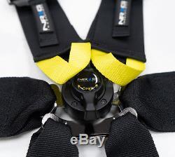Nrg 6 Point 3 Black Seat Belt Harness Fia / Hans Approved Sbh-hrs6pcbk