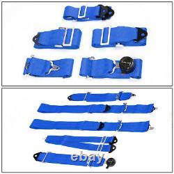 Nrg Innovations Sbh-6pcbl 6-point Cam Lock Buckle Racing Seat Belt Harness Blue
