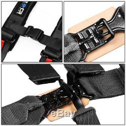 Nrg Innovations Sbh-r5pcbk Sfi 16.1 Latch Link Buckle 5-point Seat Belt Harness
