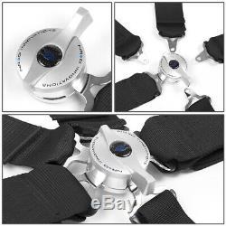 Nrg Universal 5-point Cam Lock 3w Safety Racing Seat Belt Harness Sbh-r6pcbk