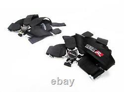 OBX Racing Sports Black 5 Point Racing Seat Belt Harness Driver & Passenger Set