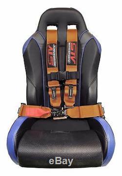 ORANGE 4 point Racing Harness Seat Belts Razor RZR UTV Buggy Off-Road