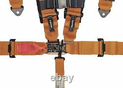 ORANGE 5 point Racing Harness Seat Belts Razor RZR UTV Buggy Off-Road
